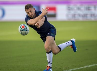 El capitán de Escocia, Laidlaw, anuncia su retiro del rugby internacional